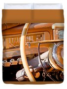 1942 Packard Darrin Convertible Victoria Steering Wheel Duvet Cover by Jill Reger
