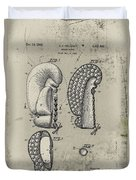 1948 Boxing Glove Patent Duvet Cover by Digital Reproductions