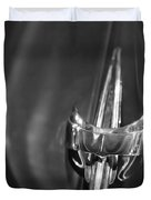 1949 Mercury Woody Wagon Hood Ornament 2 Duvet Cover by Jill Reger