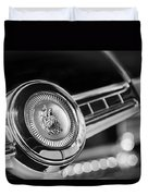 1949 Plymouth P-18 Special Deluxe Convertible Steering Wheel Emblem Duvet Cover by Jill Reger