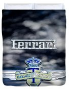 1950 Ferrari Emblem Duvet Cover by Jill Reger