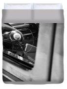 1950 Ford Custom Deluxe Woodie Station Wagon Steering Wheel Emblem Duvet Cover by Jill Reger