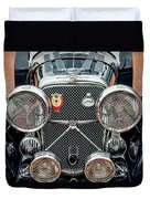1950 Jaguar Xk120 Roadster Grille Duvet Cover by Jill Reger