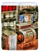 1950's - The Greasy Spoon Duvet Cover by Mike Savad