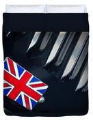 1951 Jaguar Proteus C-type British Emblem Duvet Cover by Jill Reger