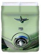 1951 Studebaker Commander Hood Ornament 2 Duvet Cover by Jill Reger