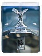 1952 Rolls-royce Hood Ornament Duvet Cover by Jill Reger