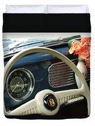 1952 Volkswagen Vw Bug Steering Wheel Duvet Cover by Jill Reger