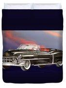 1953  Cadillac El Dorardo Convertible Duvet Cover by Jack Pumphrey