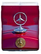 1953 Mercedes Benz Hood Ornament Duvet Cover by Jill Reger