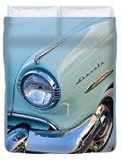 1954 Lincoln Capri Headlight Duvet Cover by Jill Reger