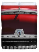 1954 Mercury Monterey Hood Ornament Duvet Cover by Jill Reger