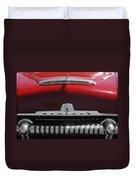 1954 Mercury Monterey Hood Ornament Duvet Cover by Jill Reger