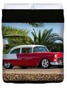 1955 Chevrolet 210 Duvet Cover by Jill Reger