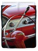 1955 Chevrolet Belair Nomad Steering Wheel Duvet Cover by Jill Reger