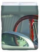 1955 Ford Thunderbird Steering Wheel Duvet Cover by Jill Reger