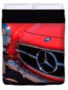 1955 Mercedes-benz 300sl Gullwing Grille Emblems Duvet Cover by Jill Reger