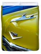 1956 Chevrolet Hood Ornament 3 Duvet Cover by Jill Reger