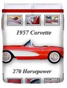 1957 Chevrolet Corvette Art Duvet Cover by Jill Reger