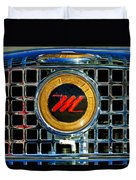 1958 Nash Metropolitan Hood Ornament 3 Duvet Cover by Jill Reger