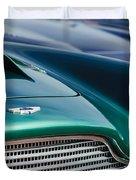 1960 Aston Martin DB4 Series II Grille - Hood Emblem Duvet Cover by Jill Reger