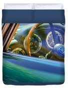 1960 Aston Martin Db4 Series II Steering Wheel Duvet Cover by Jill Reger