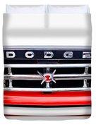 1960 Dodge Truck Grille Emblem Duvet Cover by Jill Reger