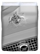 1960 Nash Metropolitan Hood Ornament Duvet Cover by Jill Reger