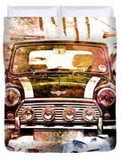 1960s Mini Cooper Duvet Cover by David Ridley