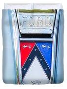 1963 Ford Falcon Futura Convertible Emblem Duvet Cover by Jill Reger