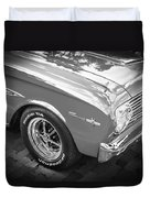 1963 Ford Falcon Sprint Convertible  Bw Duvet Cover by Rich Franco