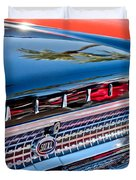 1963 Ford Galaxie 500XL Taillight Emblem Duvet Cover by Jill Reger