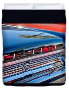 1963 Ford Galaxie 500xl Taillight Emblem Duvet Cover by Jill Reger