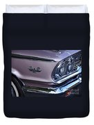 1963 Ford Galaxie Front End And Badge Duvet Cover by Kaye Menner