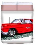1963 Ford Thunderbird Duvet Cover by Jack Pumphrey