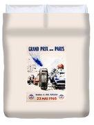 1965 Grand Prix De Paris Duvet Cover by Georgia Fowler