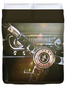 1965 Shelby Prototype Ford Mustang Steering Wheel Emblem Duvet Cover by Jill Reger