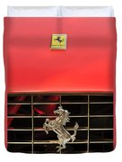 1966 Ferrari 330 Gtc Coupe Hood Ornament Duvet Cover by Jill Reger