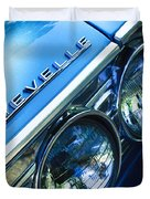 1967 Chevrolet Chevelle Malibu Head Light Emblem Duvet Cover by Jill Reger