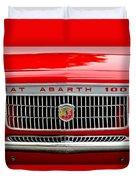 1967 Fiat Abarth 1000 Otr Grille Duvet Cover by Jill Reger