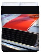 1969 Chevrolet Camaro Rs-ss Indy Pace Car Replica Grille - Hood Emblems Duvet Cover by Jill Reger