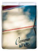 1969 Chevrolet Camaro Rs-ss Indy Pace Car Replica Side Emblem Duvet Cover by Jill Reger