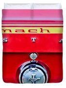 1969 Ford Mustang Mach 1 Rear Emblems Duvet Cover by Jill Reger