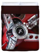 1969 Ford Mustang Mach 1 Steering Wheel Duvet Cover by Jill Reger