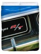 1970 Dodge Challenger RT Convertible Grille Emblem Duvet Cover by Jill Reger