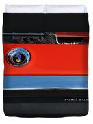 1972 Plymouth Road Runner Hood Emblem Duvet Cover by Jill Reger