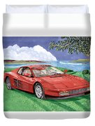1987 Ferrari Testarosa Duvet Cover by Jack Pumphrey