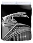 1931 Chevrolet Hood Ornament Duvet Cover by Jill Reger