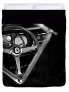 1967 Ferrari 275 Gtb 4 Steering Wheel Emblem Duvet Cover by Jill Reger