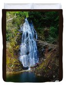 An Angel In The Falls Duvet Cover by Jeff Swan